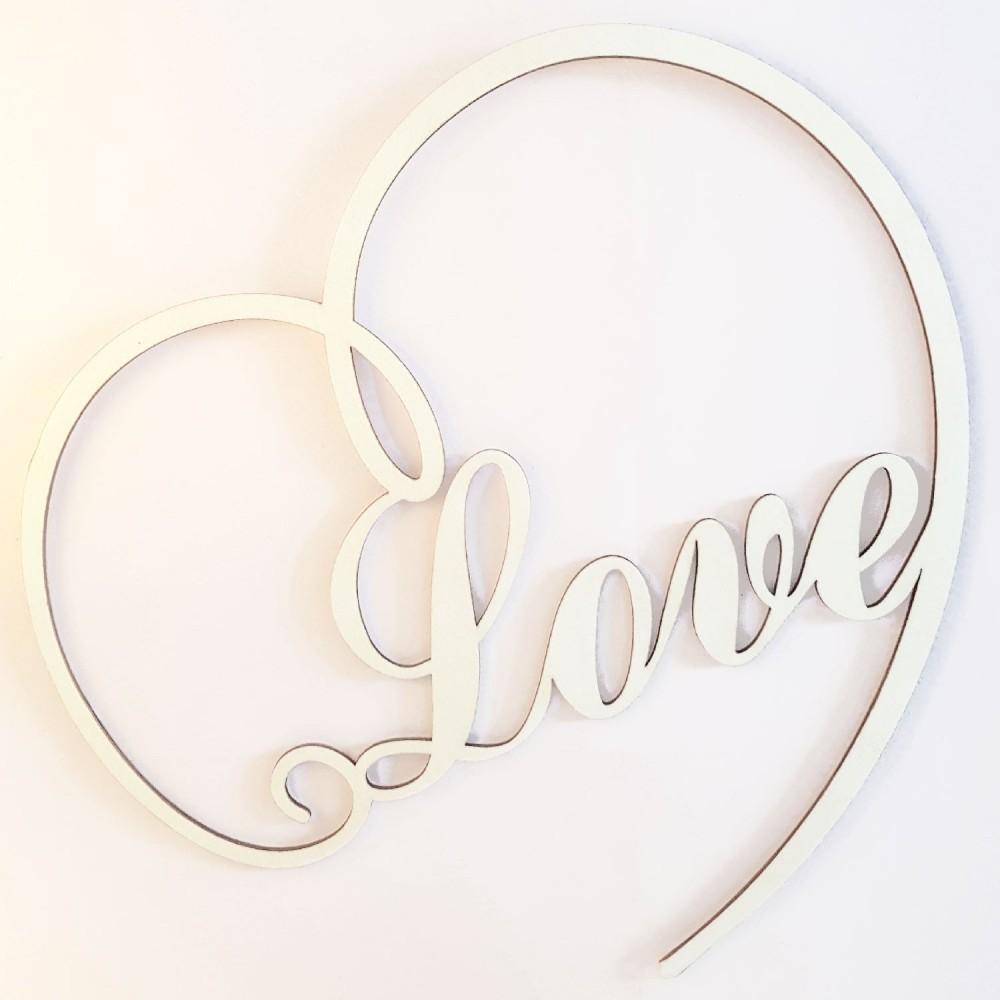 décoration murale coeur love