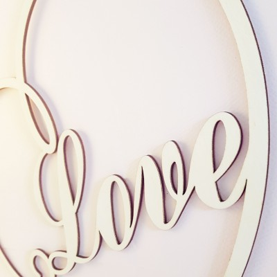 décoration amour bois mariage