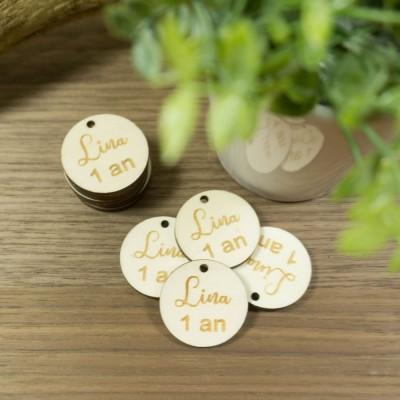 étiquettes en bois pour cadeaux d'anniversaire
