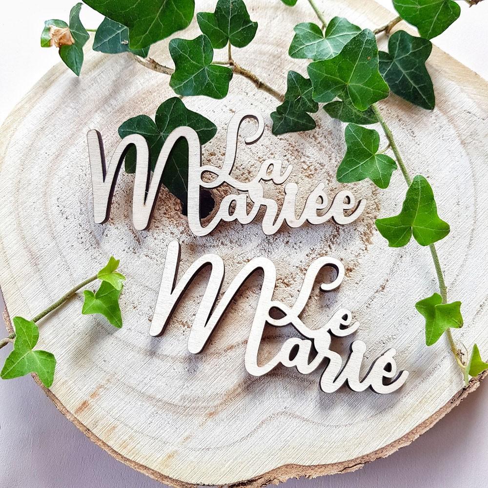 marque place des mariés en bois