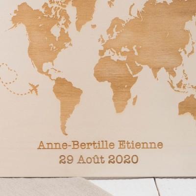 pancarte en bois thème voyage