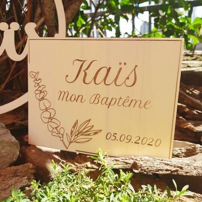 Pancarte eucalyptus en bois à personnaliser