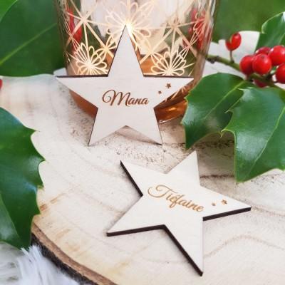 marque-place étoile personnalisables