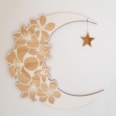 Sur la lune, décoration murale