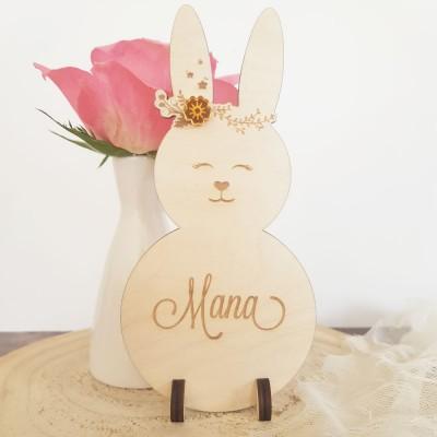 Mademoiselle lapinou, décoration à personnaliser