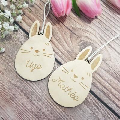 Oeuf lapin personnalisé avec un prénom