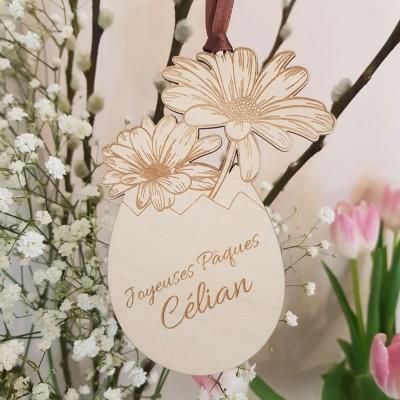 Oeuf de Pâques Fleurs de Gerbera