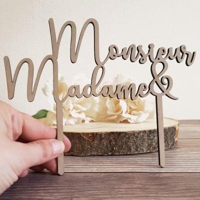 décoration gâteau monsieur madame