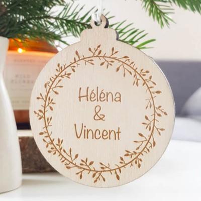 Décoration personnalisée pour le sapin de Noël