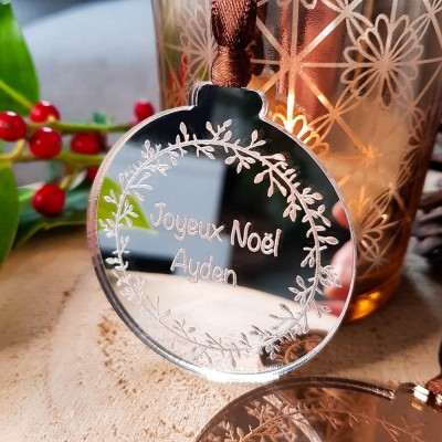 boule de Noël miroir