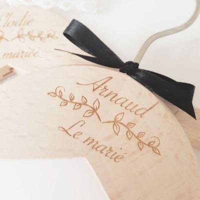 cintre personnalisée le marié