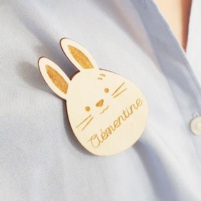 broche lapin à personnaliser