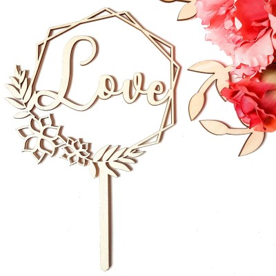 cake topper mariage champetre