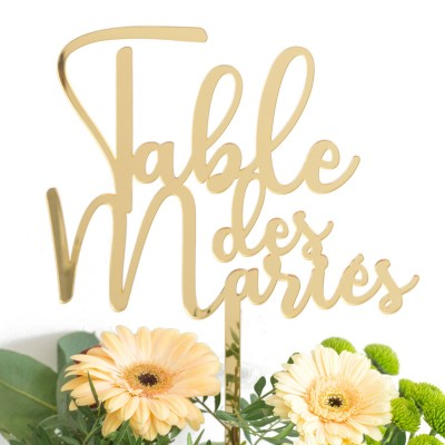 "cake topper ""table des mariés"""