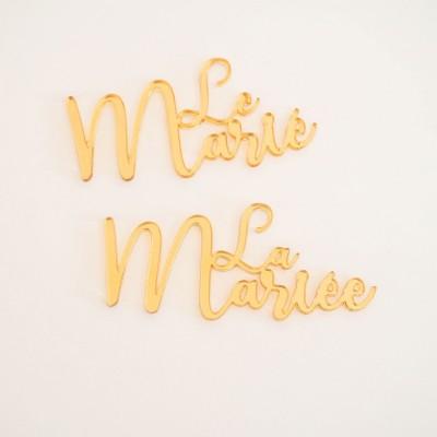 marque-places acrylique miroir
