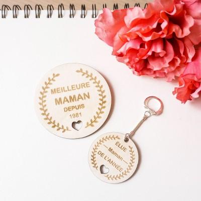 porte-clefs et magnet pour la fête des mamans
