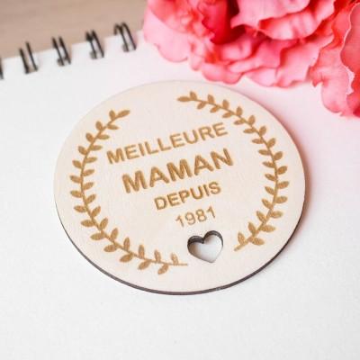 cadeaux personnalisés en bois fête des mamans