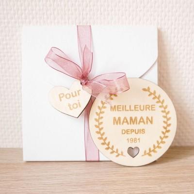 Magnet en bois fête des mamans
