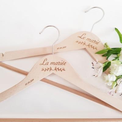 cintres mariage personnalisés