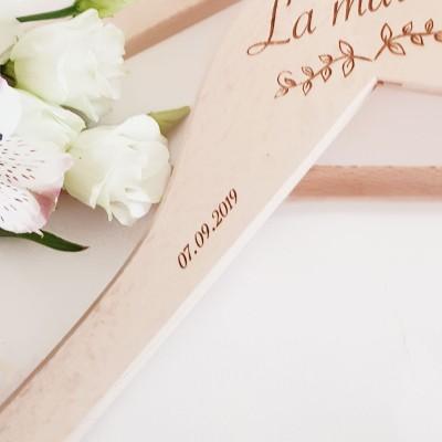 cintre personnalisé mariée