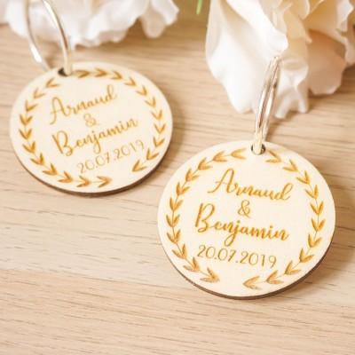 cadeaux d'invités mariage en bois