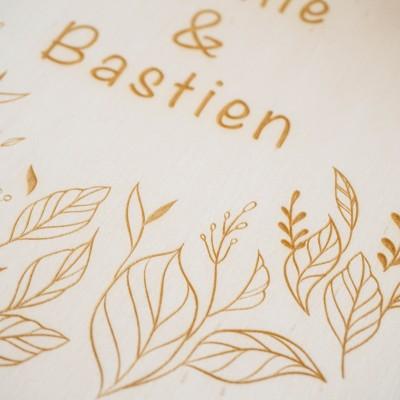 détail de votre livre d'or en bois