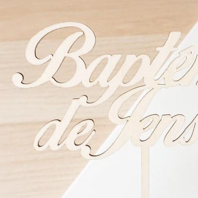 Cake Topper pour gâteau de baptême