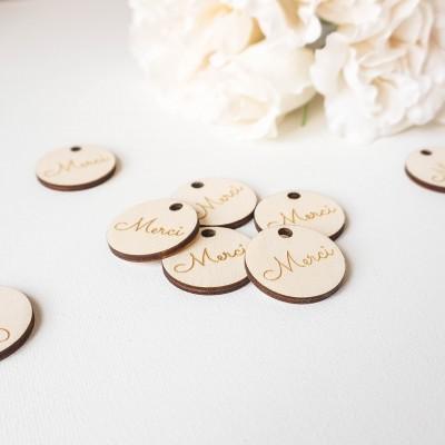 étiquettes en bois mariage