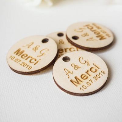 étiquette décoration en bois