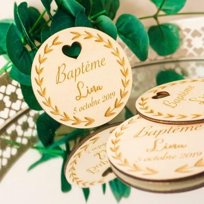 étiquettes pour baptême