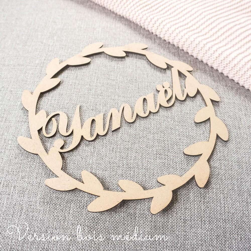 enseigne prénom décoratif en bois