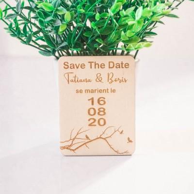 save the date en bois