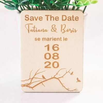 save the date rectangle mariage