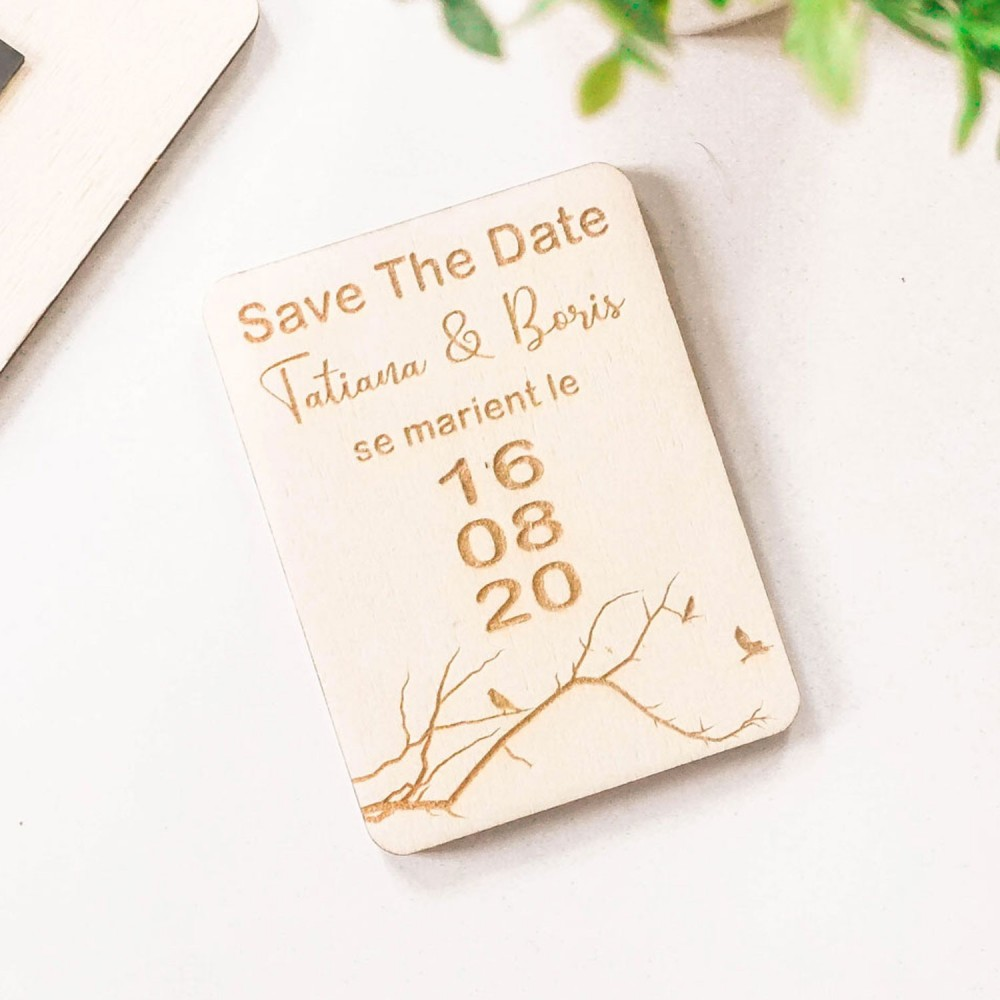 un souffle de nature avec les magnets save the date en bois