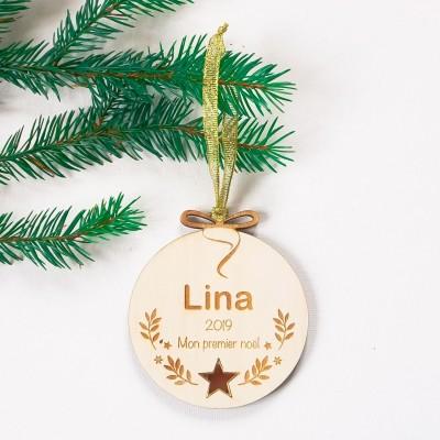 décoration de noël en bois personnalisée lina