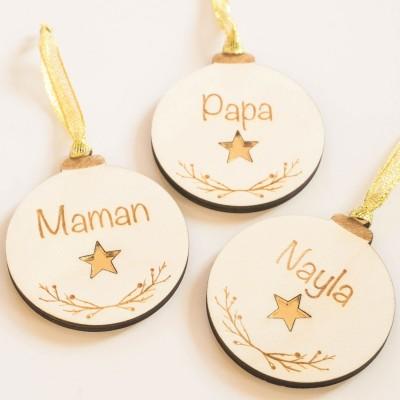 décoration de noël personnalisé cadeaux