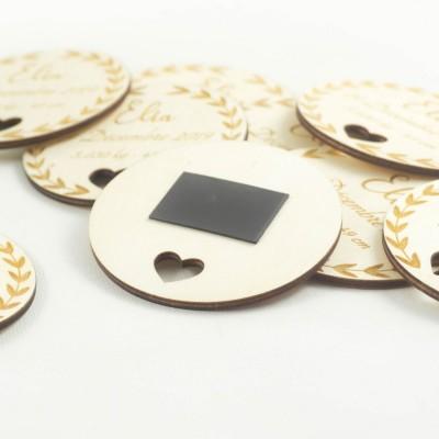 magnet de naissance original en bois