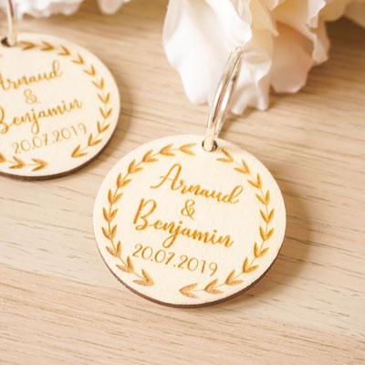 porte clefs cadeaux invités mariage